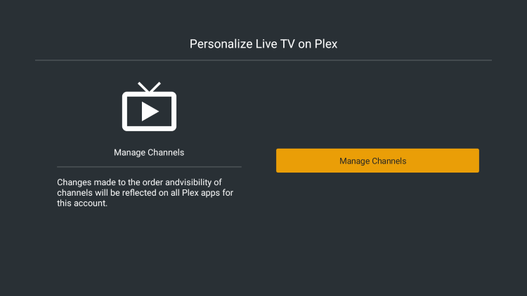 Click Manage Channels.