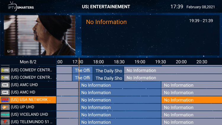 There is also a simple electronic program guide (EPG) in resleektv for those that prefer this layout.