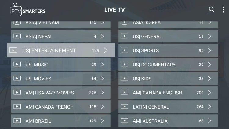 Every subscription plan comes with over 10,000 live channels and VOD options.