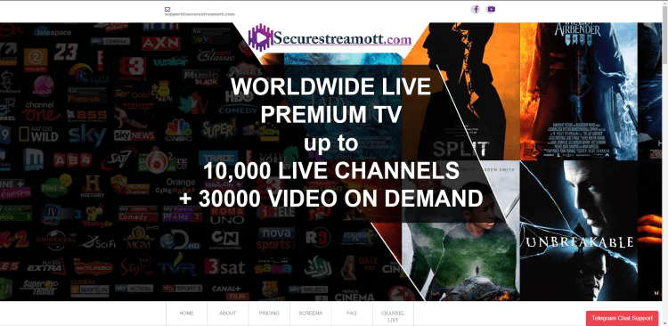 Prior to using the Secure Stream OTT IPTV service, you will need to register for an account on their official website.