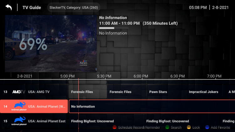 One of the best features within the Slacker TV service is the ability to add channels to Favorites.