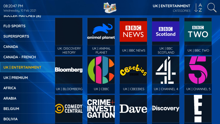 Every subscription plan comes with over 6,000 live channels and Adult options.