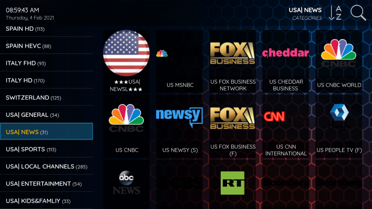 SupremeTV IPTV provides over 15,000 live channels starting at under $18/month with their standard plan.