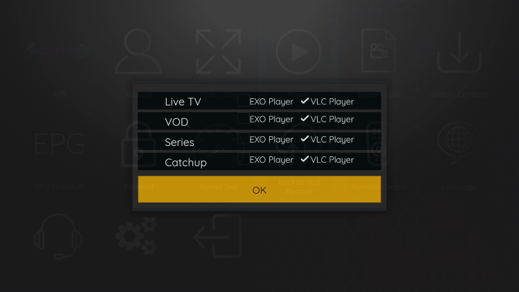 That's it! You can now integrate external video players within supremetv iptv