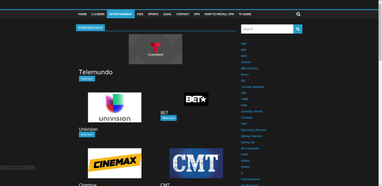 Some of the popular entertainment channels are shown below.