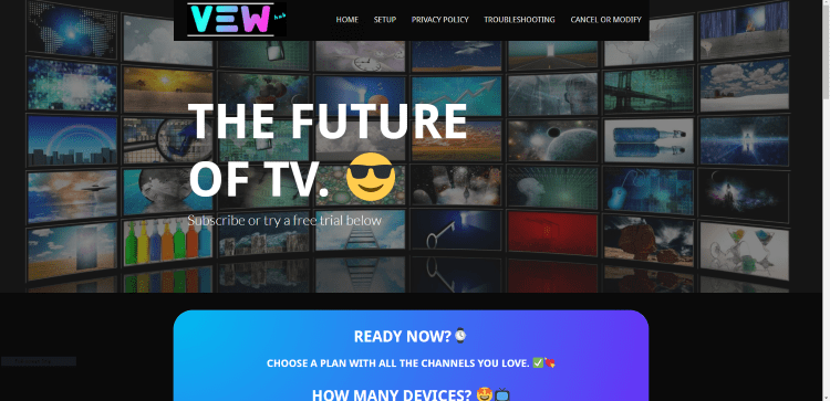 Prior to using the Vewhub IPTV service, you will need to register for an account on their official website.