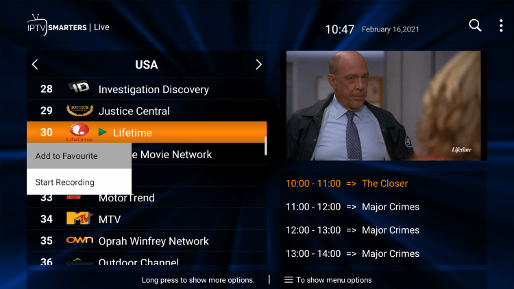 One of the best features within the Vewhub IPTV service is the ability to add channels to Favorites.