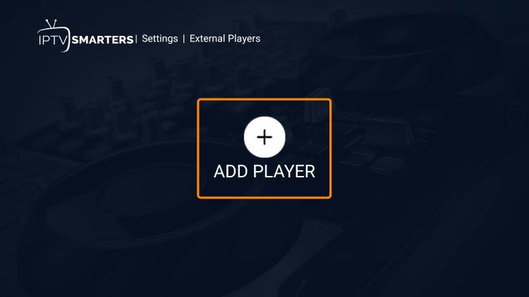 Click Add Player.