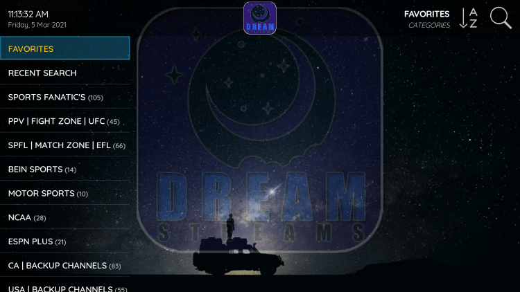 That's it! You can now add/remove channels from Favorites within dream iptv
