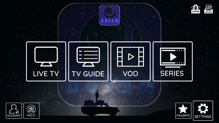 In the example below, we show how to integrate an external player within Dream IPTV.