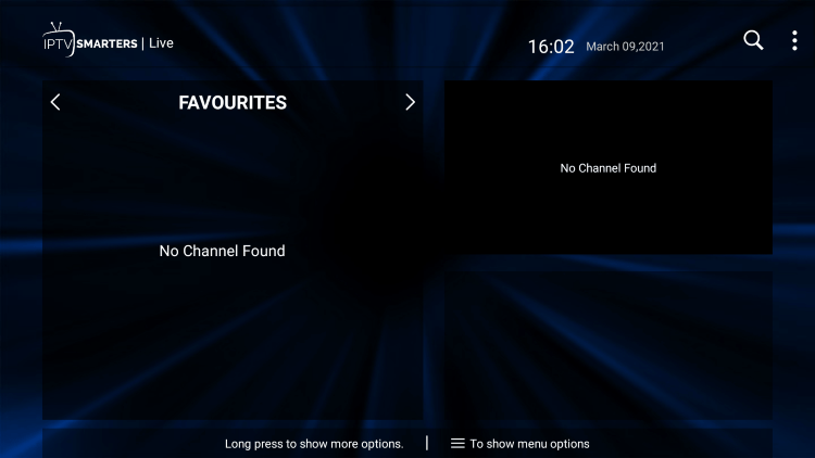 That's it! You can now add/remove channels from Favorites within this hawks tv iptv