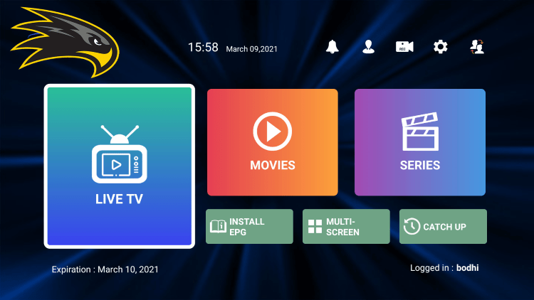 In the example below, we show how to integrate an external player within Hawks TV IPTV.