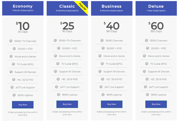 homeplex iptv pricing