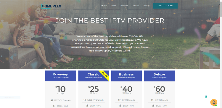 Prior to using the HomePlex IPTV service, you will need to register for an account on their official website.
