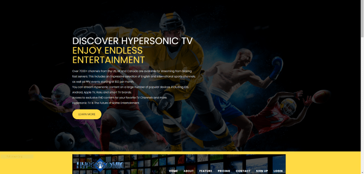 Prior to using the Hypersonic TV service, you will need to register for an account on their official website.