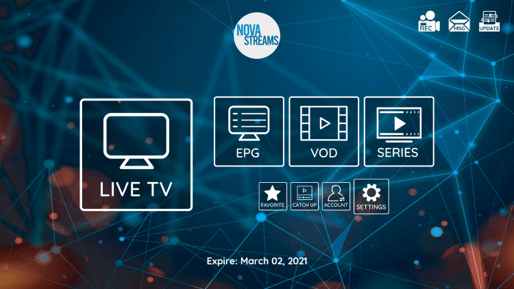 In the example below, we show how to integrate an external player within Nova IPTV.