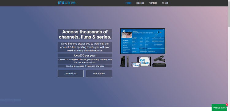 Prior to using the Nova IPTV service, you will need to register for an account on their official website.