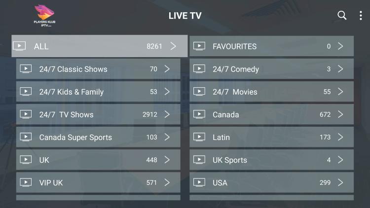 players klub channels