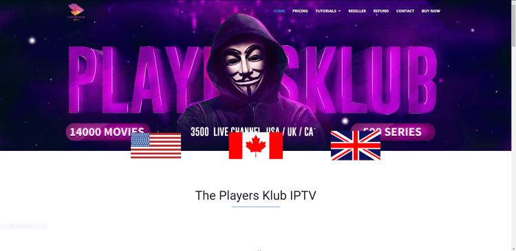 Prior to using the Players Klub IPTV service, you will need to register for an account on their official website.
