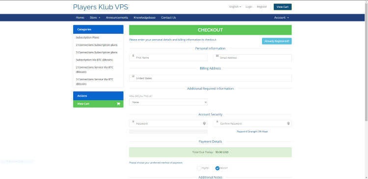 That's it! You have successfully registered for an account with Players Klub IPTV.
