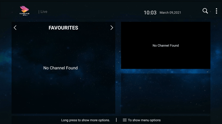 That's it! You can now add/remove channels from Favorites within players klub iptv