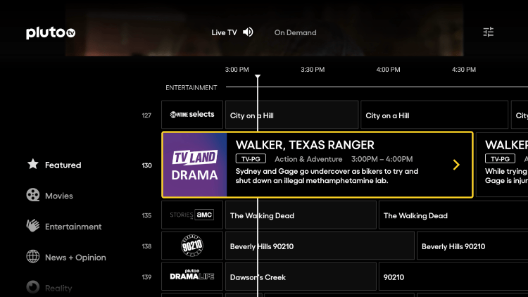 One of the best features within Pluto TV APK is the ability to sort channels and create your own Favorites list.