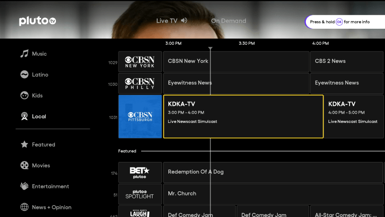 You have installed the Pluto TV APK on your Roku device.
