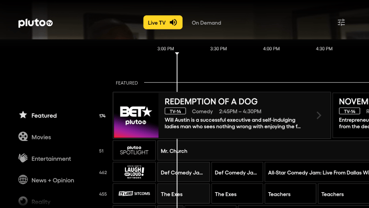 As mentioned previously, Pluto TV APK offers hundreds of live channels that are 100% free to watch on any device.