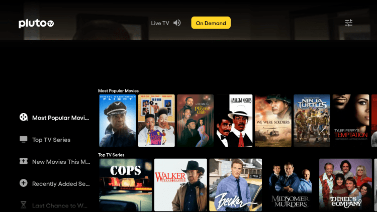 There are also several VOD options for free movies and shows within this IPTV app.
