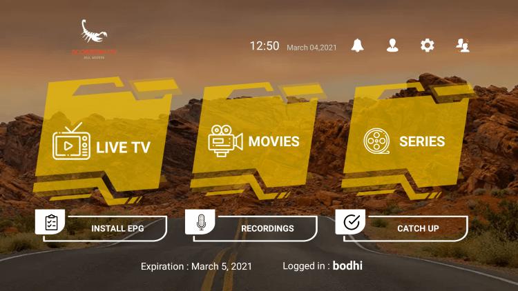 scorpion tv iptv