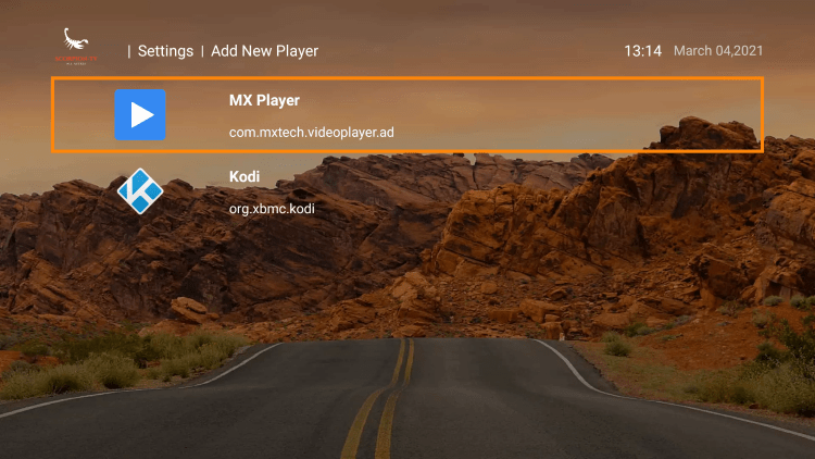 Choose your preferred media player. For this instance, we chose MX Player.