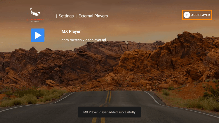 That's it! You can now integrate external video players within scorpion tv iptv