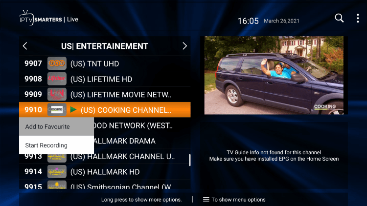 One of the best features within the SprimeeTV IPTV service is the ability to add channels to Favorites.