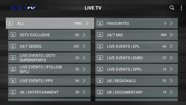 SSTV IPTV provides over 8,000 live channels starting for under $17.00 per month with their standard subscription!