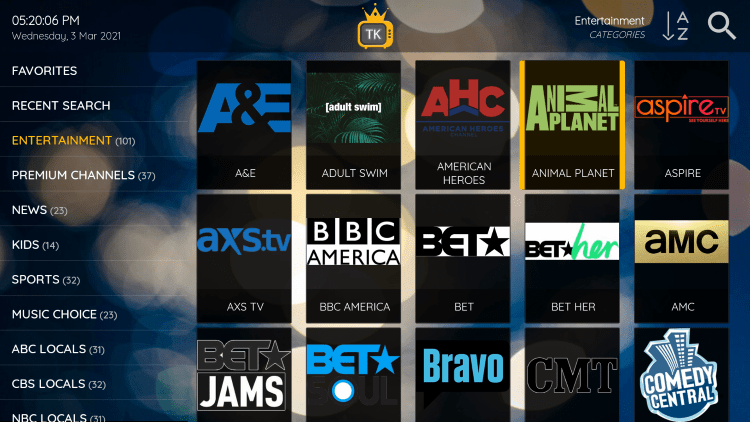 One of the best features within the TV Kings service is the ability to add channels to Favorites.