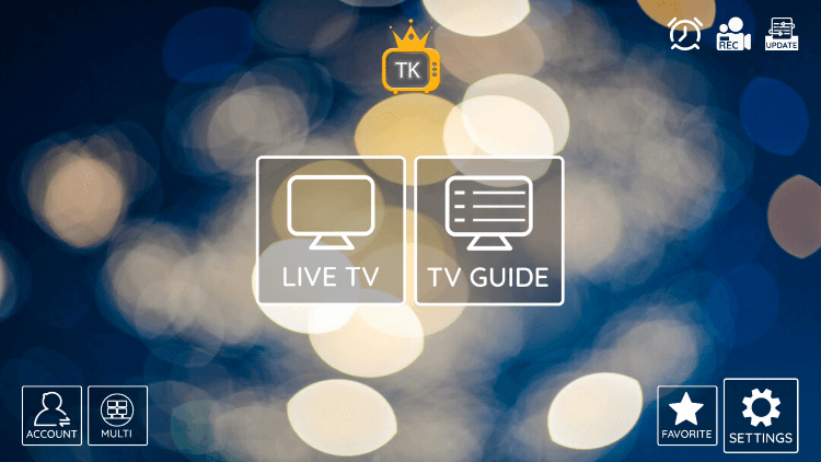 In the example below, we show how to integrate an external player within TV Kings.