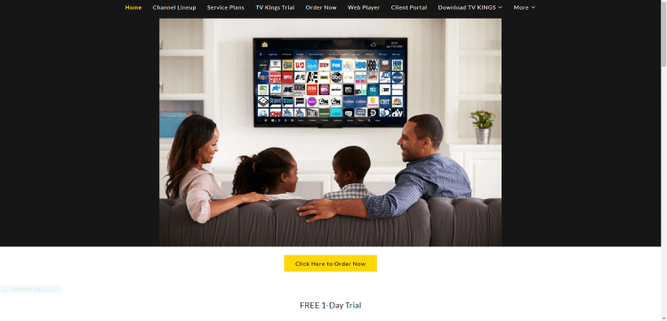 Prior to using the TV Kings IPTV service, you will need to register for an account on their official website.