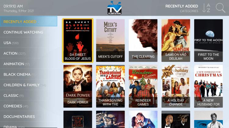 tv plantation movies