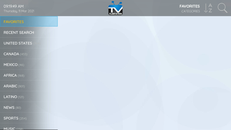 That's it! You can now add/remove channels from Favorites within tv plantation