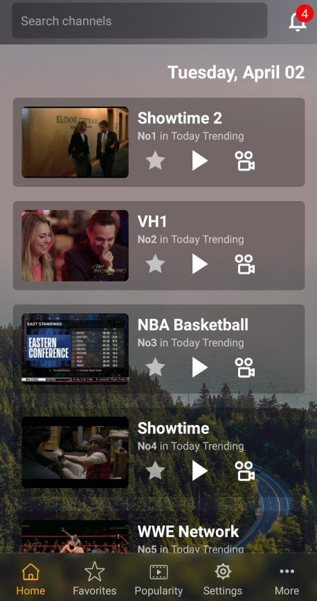 This app is also optimized for Android mobile devices for those looking to stream on mobile.