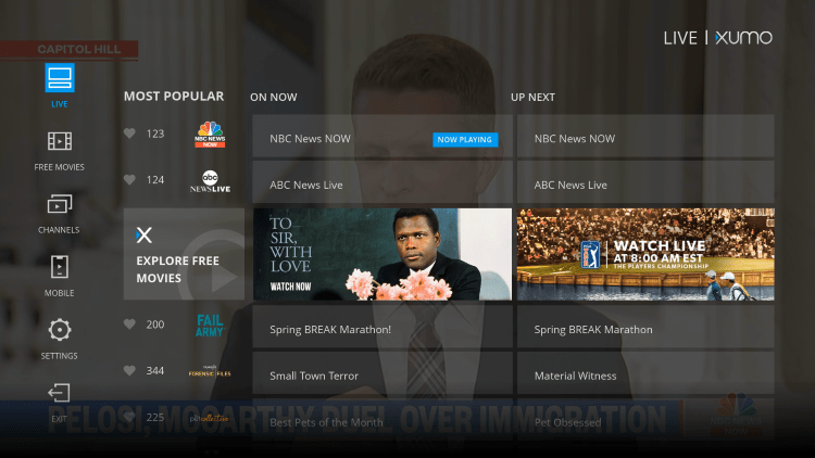 You have installed the XUMO APK on your Roku device.