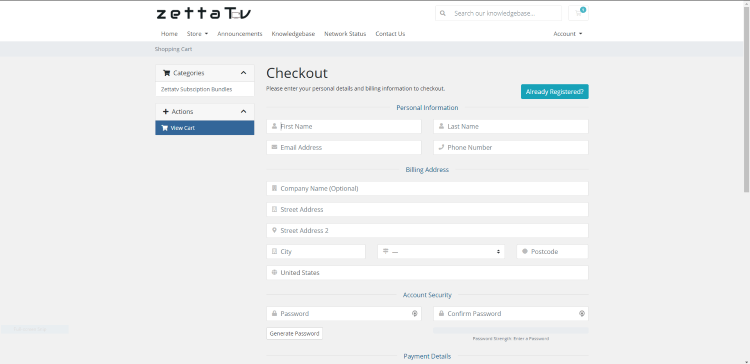 That's it! You have successfully registered for an account with ZettaTV IPTV.