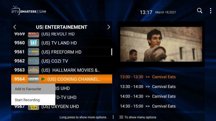 One of the best features within the ZettaTV IPTV service is the ability to add channels to Favorites.