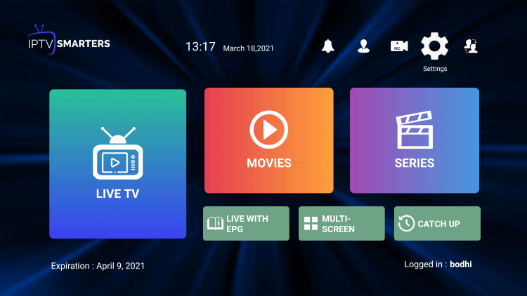 In the example below, we show how to integrate an external player within ZettaTV IPTV.