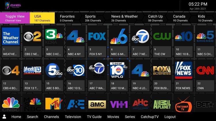 atlas media iptv channels