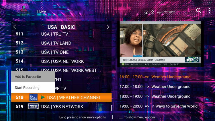 One of the best features within the Atomic Hosting IPTV service is the ability to add channels to Favorites.