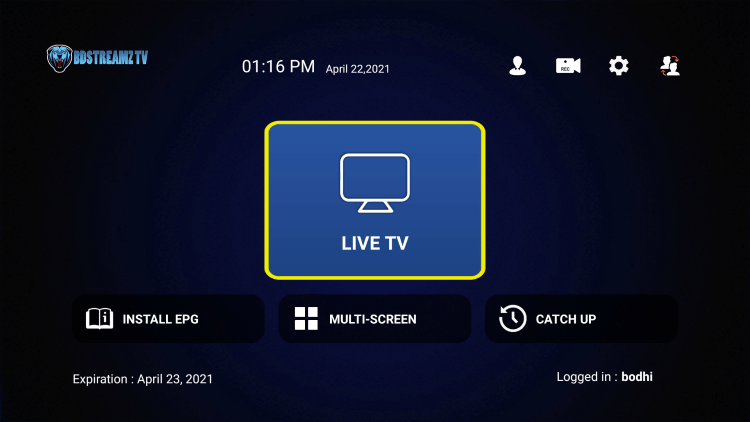 That's it! You have installed BD Streamz IPTV on your device.