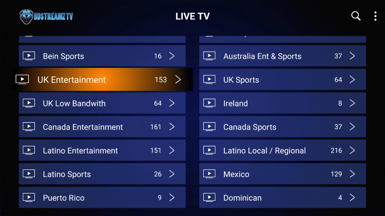 Every subscription plan comes with over 6,500 live channels and other offerings.