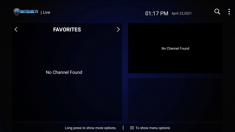 That's it! You can now add/remove channels from Favorites within bd streamz iptv