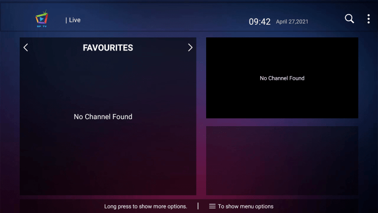 That's it! You can now add/remove channels from Favorites within bp tv iptv